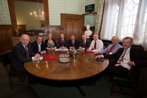 Core Cities Cabinet with William hague