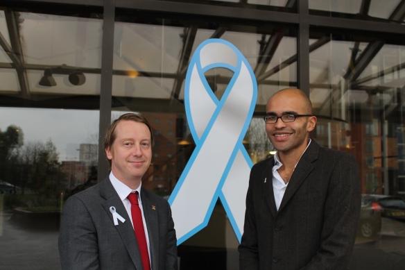 Supporting the White Ribbon Campaign, with Cllr Daniel De'ath