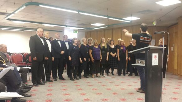 One Voice: The Tenovus 'Sing with Us' Choir in action at County Hall