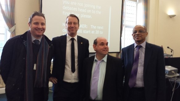 At the event with Cabinet Member, Cllr Peter Bradbury, Cllr David Groves and Charles Willie, Chief Executive of Diverse Cymru.