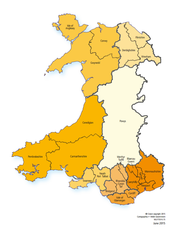 Welsh Government's proposal of 8 Councils