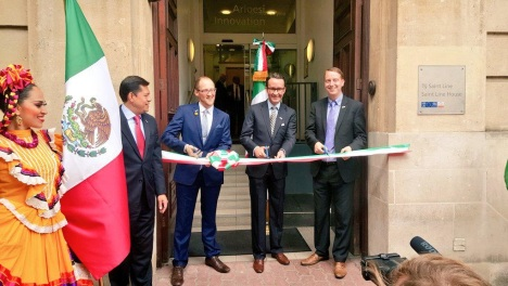 Cutting the Ribbon Ceremony at the official Opening of the Honorary Consulate of Mexico